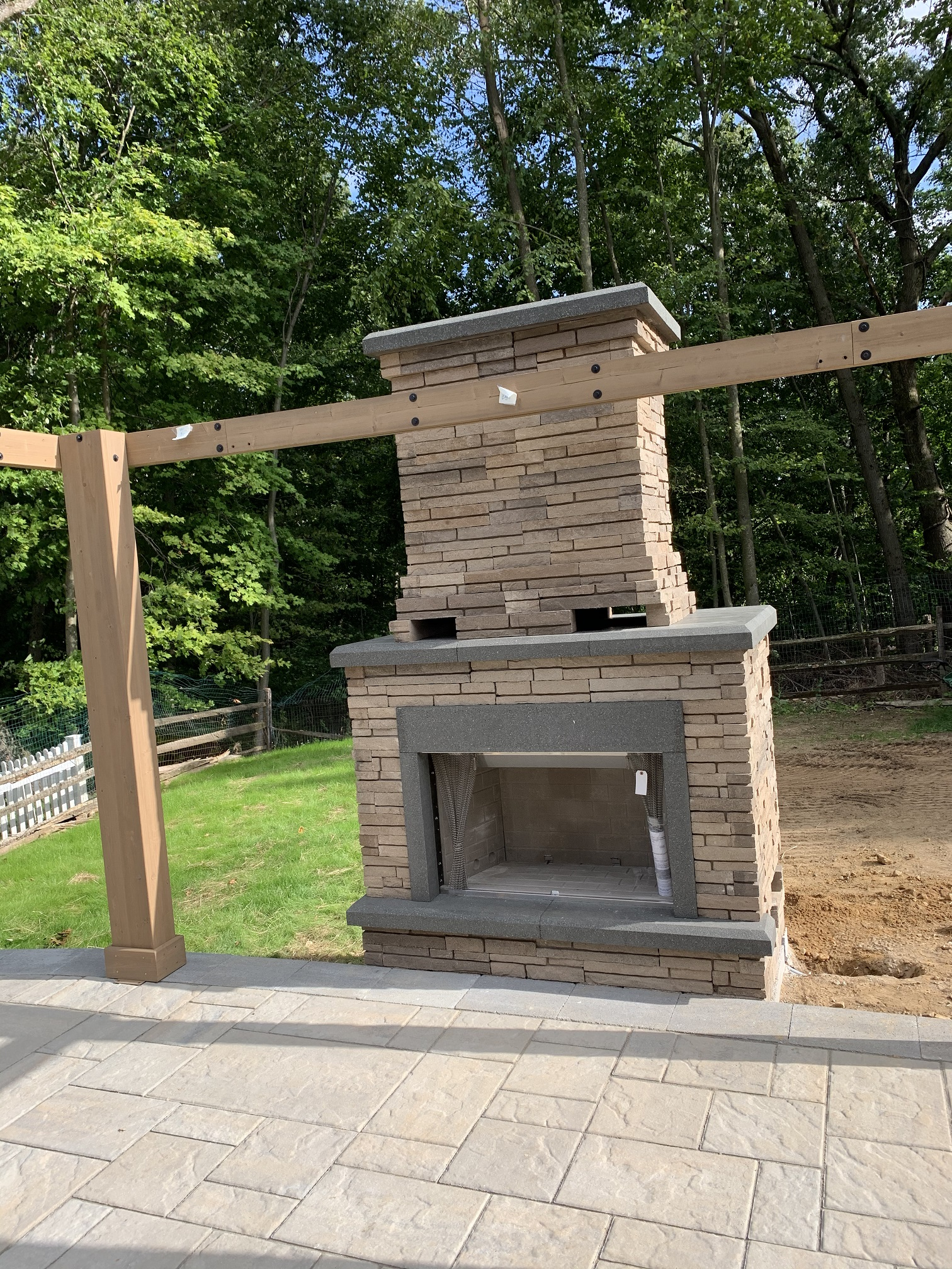 Outdoor Fireplace Install 2 – Mendham NJ
