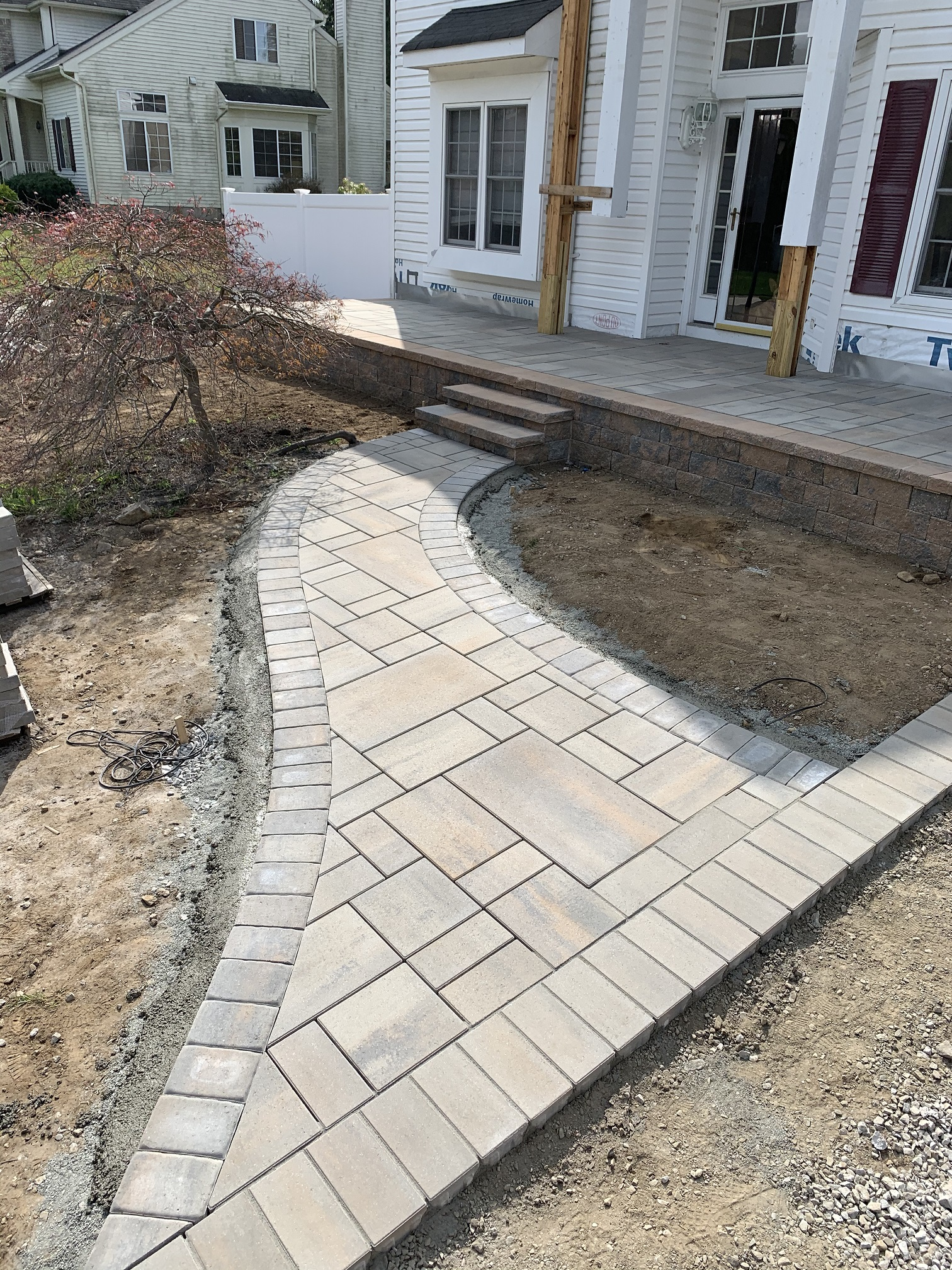 Paver Porch and walkway – Randolph NJ
