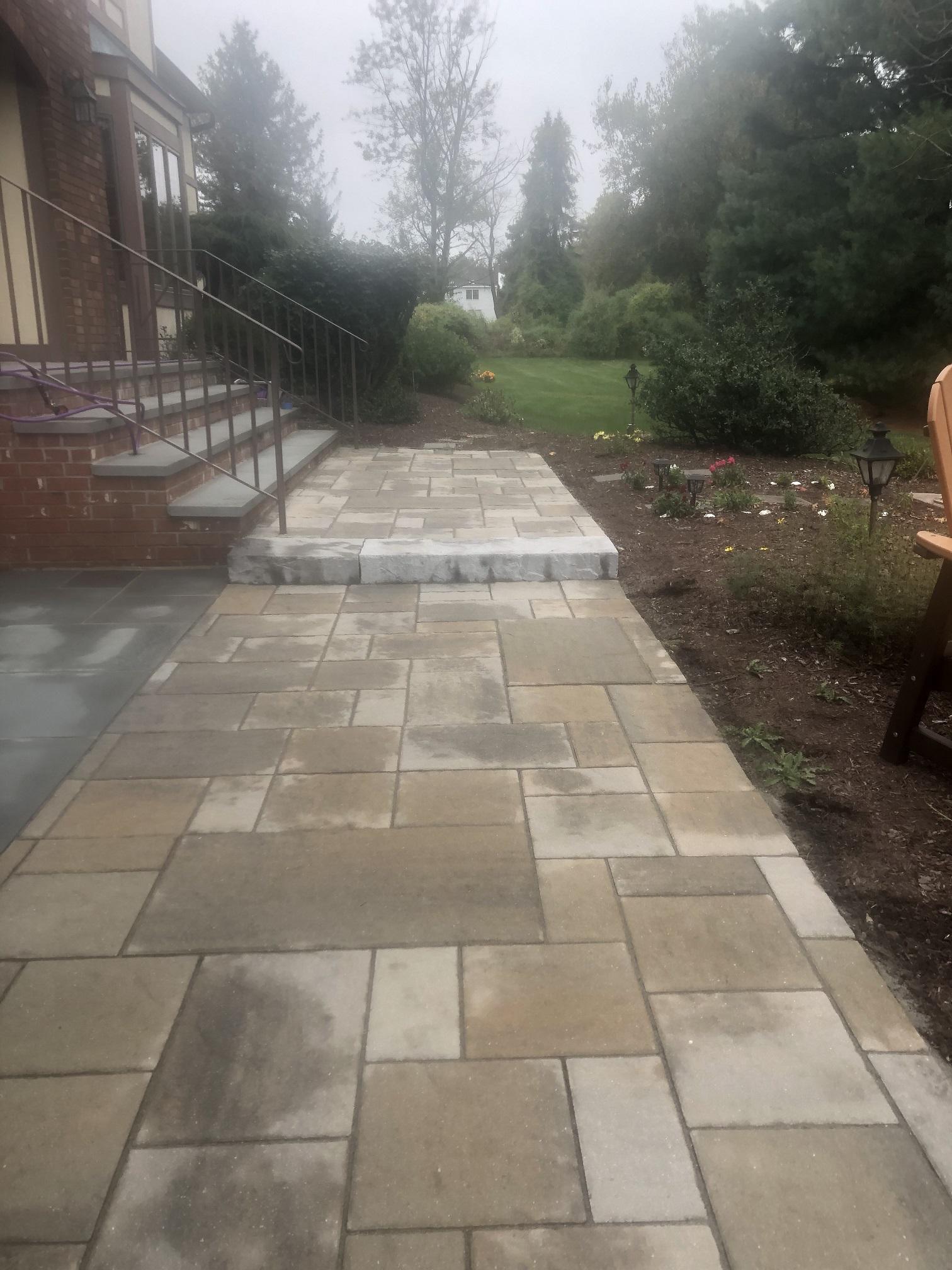 Paver entrance walkway – Flanders NJ