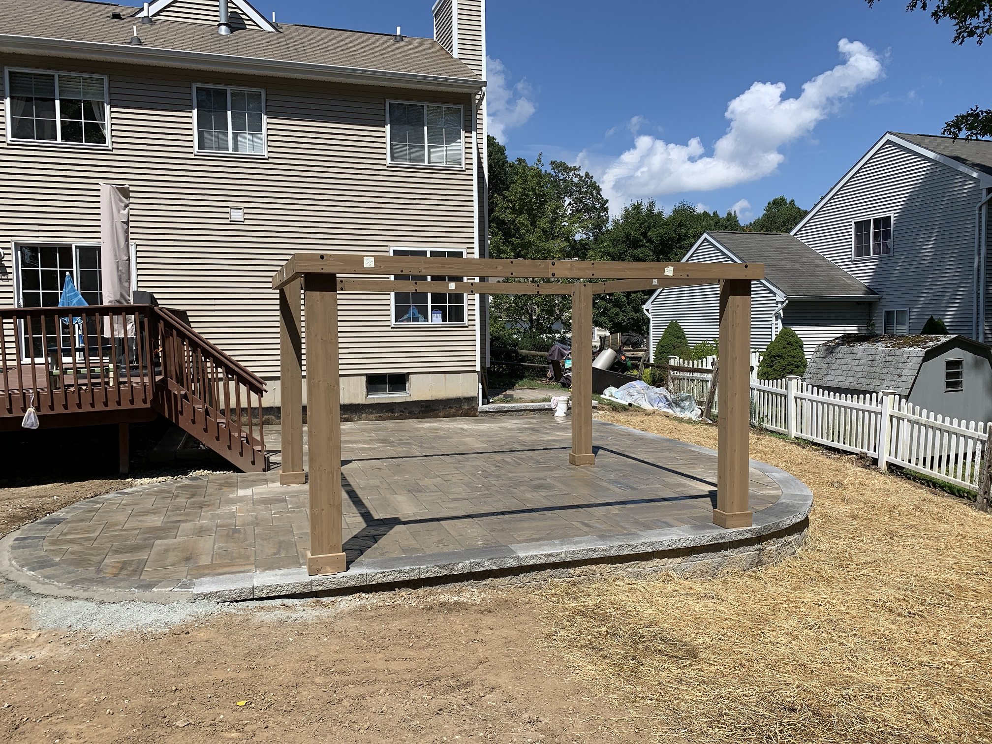 Paver patio – Pergola Install – Far Hills NJ