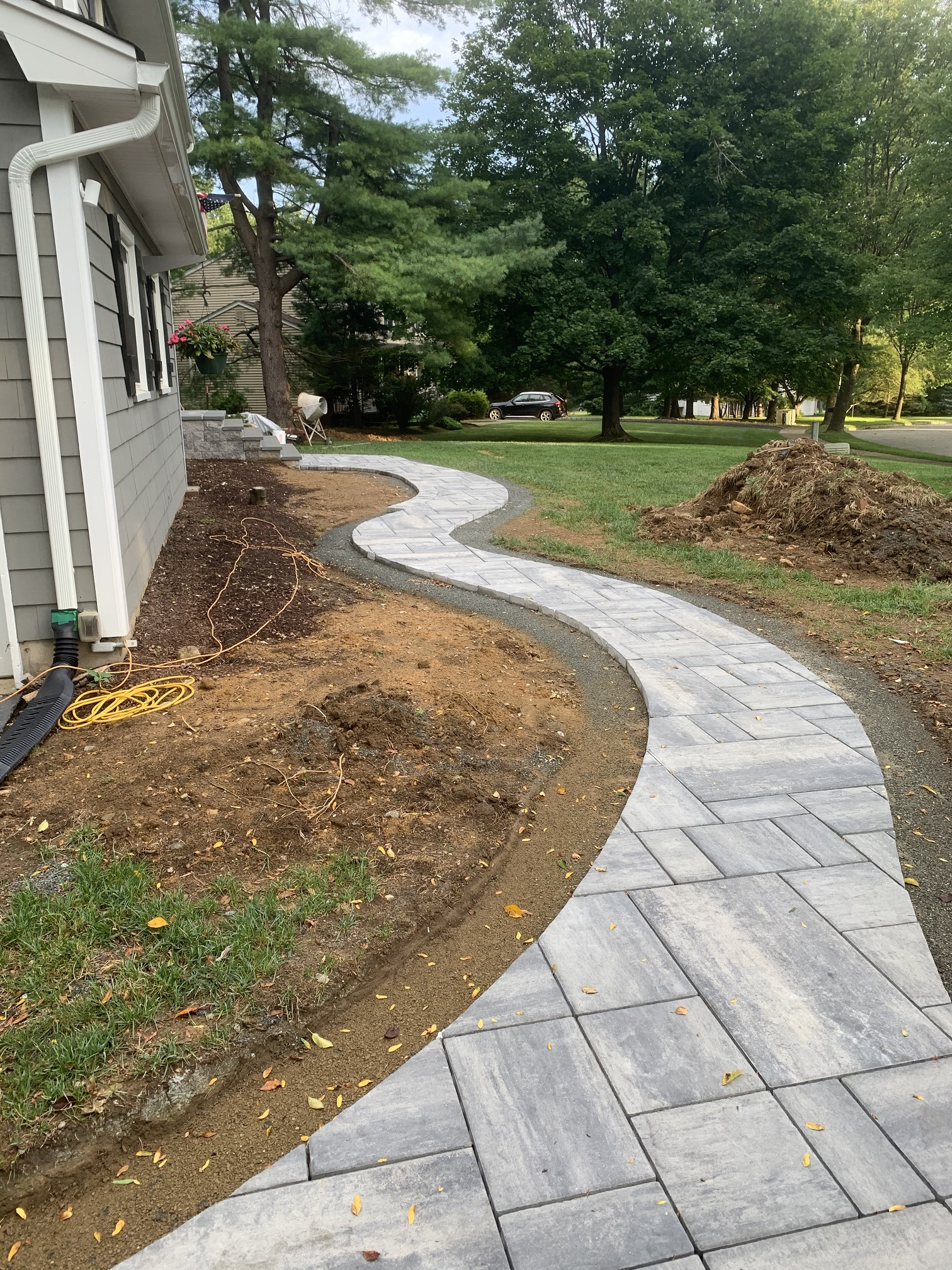 Paver Porch and walkway – Mendham NJ