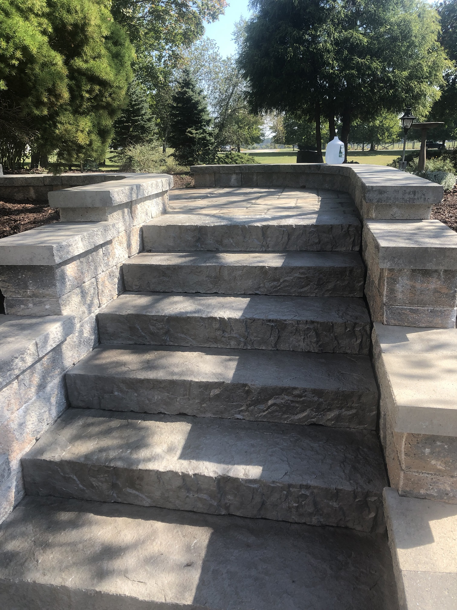 Stone staircase install – Chester NJ