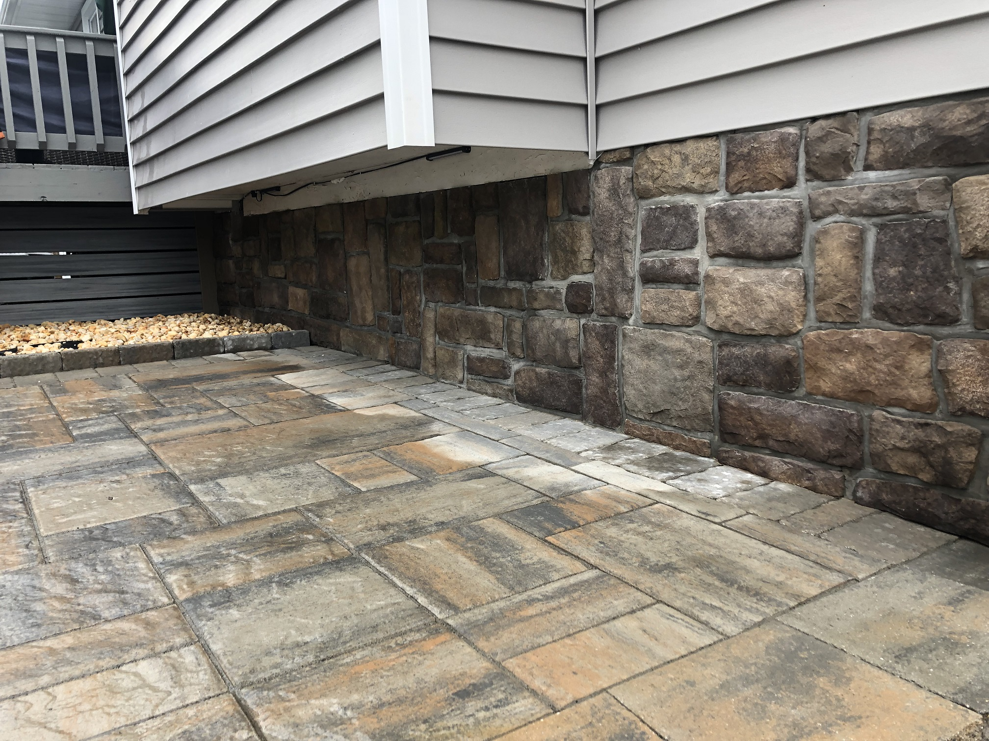 Stone work and paver patio – Chester NJ