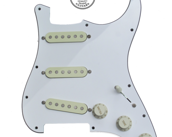 Loaded pickguard White 3-PLY