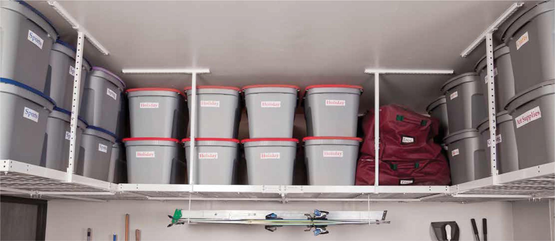 Garage Storage - Overhead Bins
