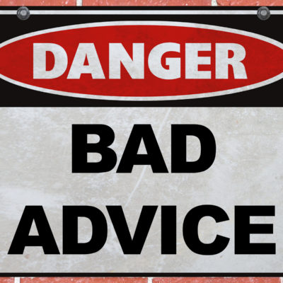 Why I call people out for giving bad advice