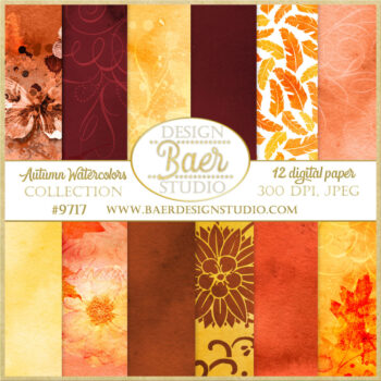 autumn digital paper
