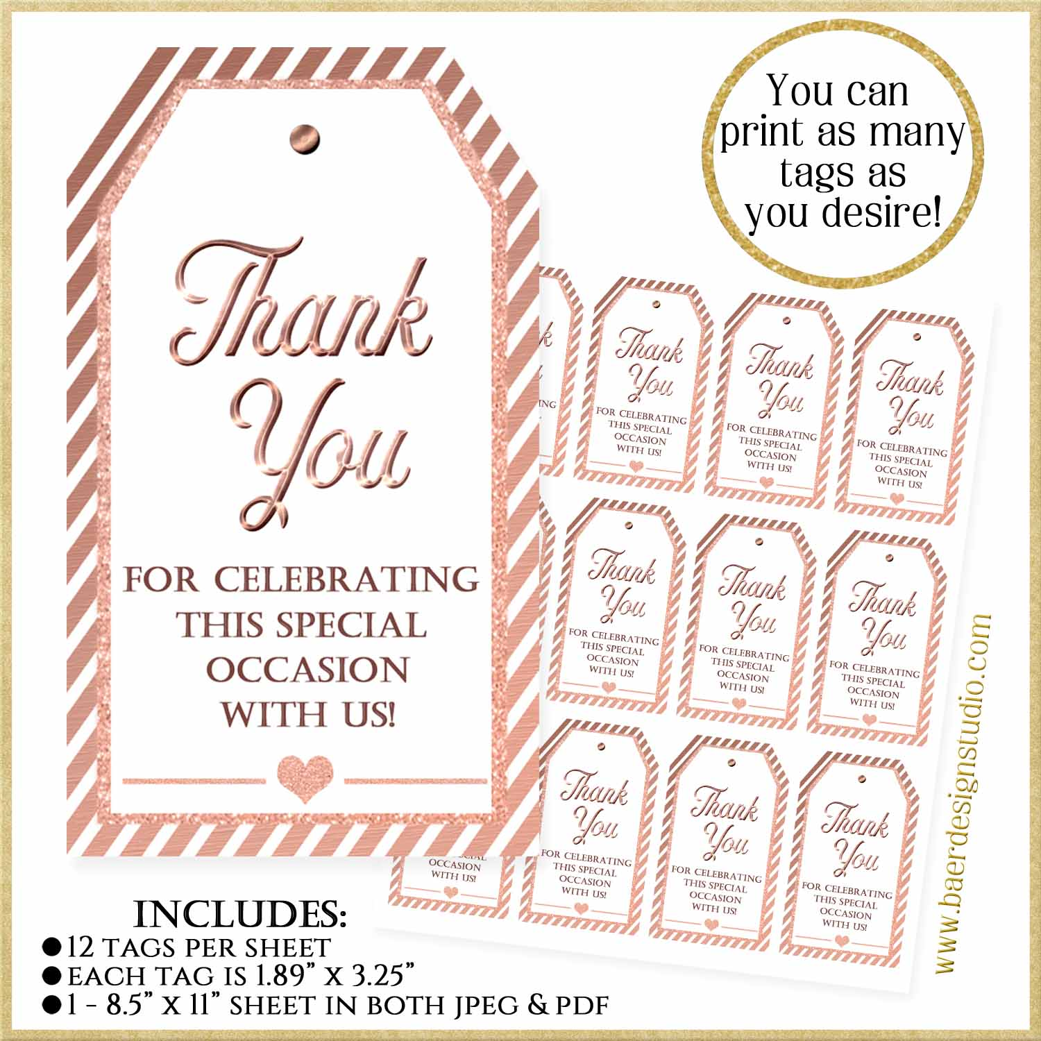 It is a graphic of Thank You Printable Tags within baby girl gift