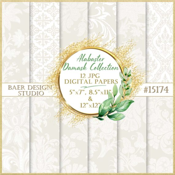 Taupe Damask Paper