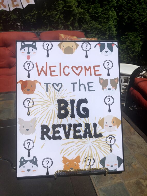Breed Reveal Dog Party Sign
