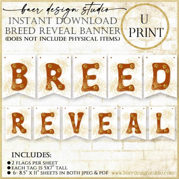 Breed Reveal Printable banner