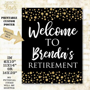 Retirement Welcome Sign