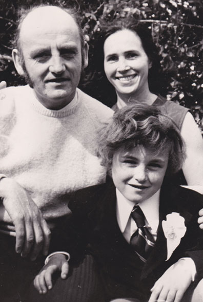 Colum with parents 1972