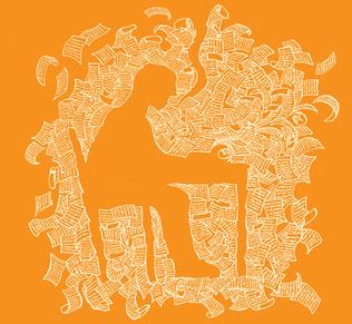 Letter art orange