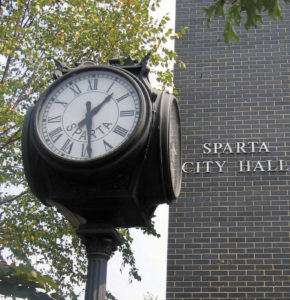 city-of-sparta-clock-and-building