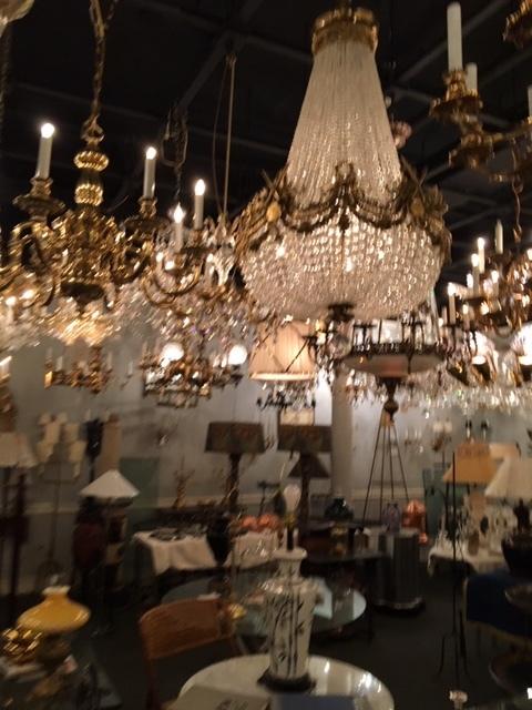 multiple crystal chandeliers
