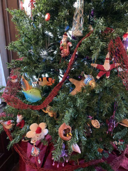 closeup Caribbean tree ornaments