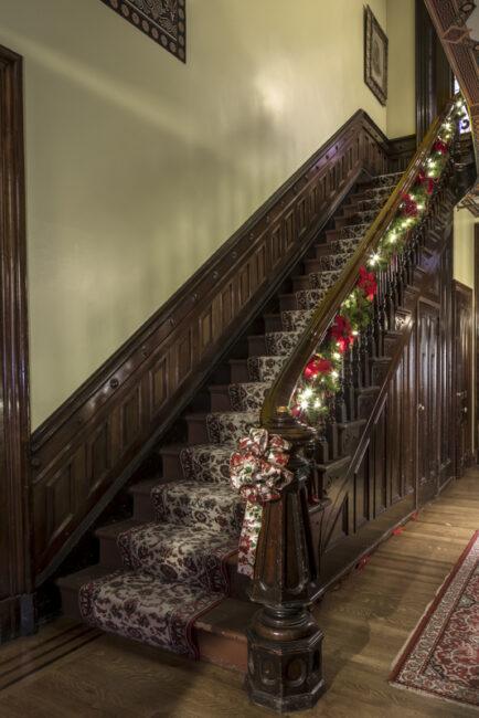 Main staircase Christmas