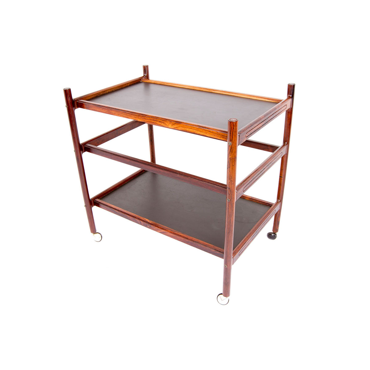 Rosewood Danish Modern Serving Cart