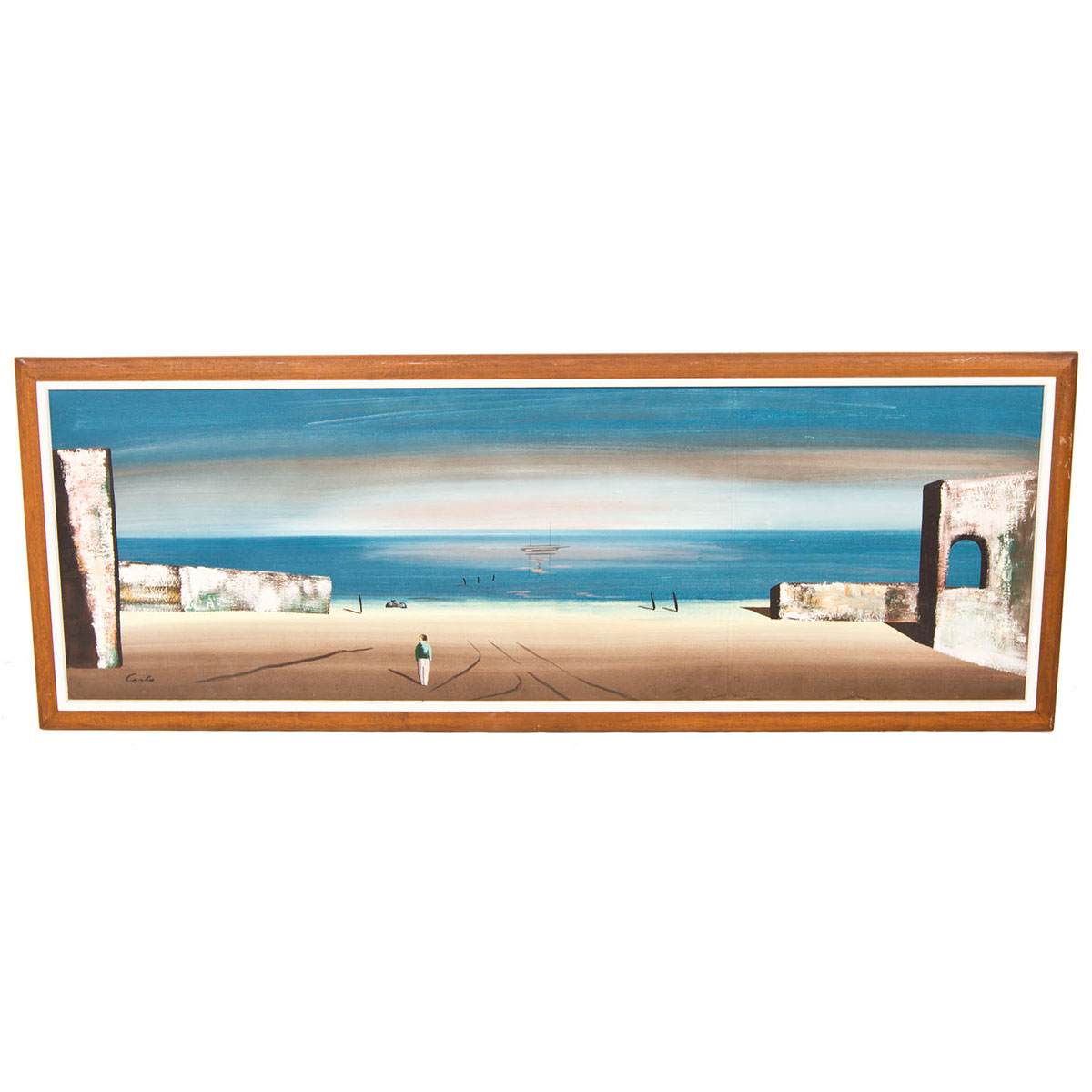 Carlo Beach Scene Painting