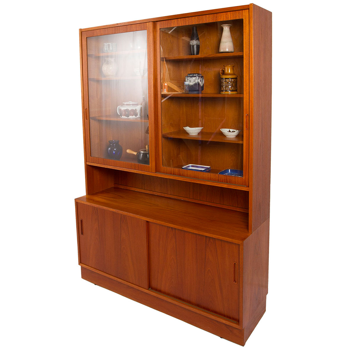 Danish Modern Teak Adjustable Display / Storage Unit