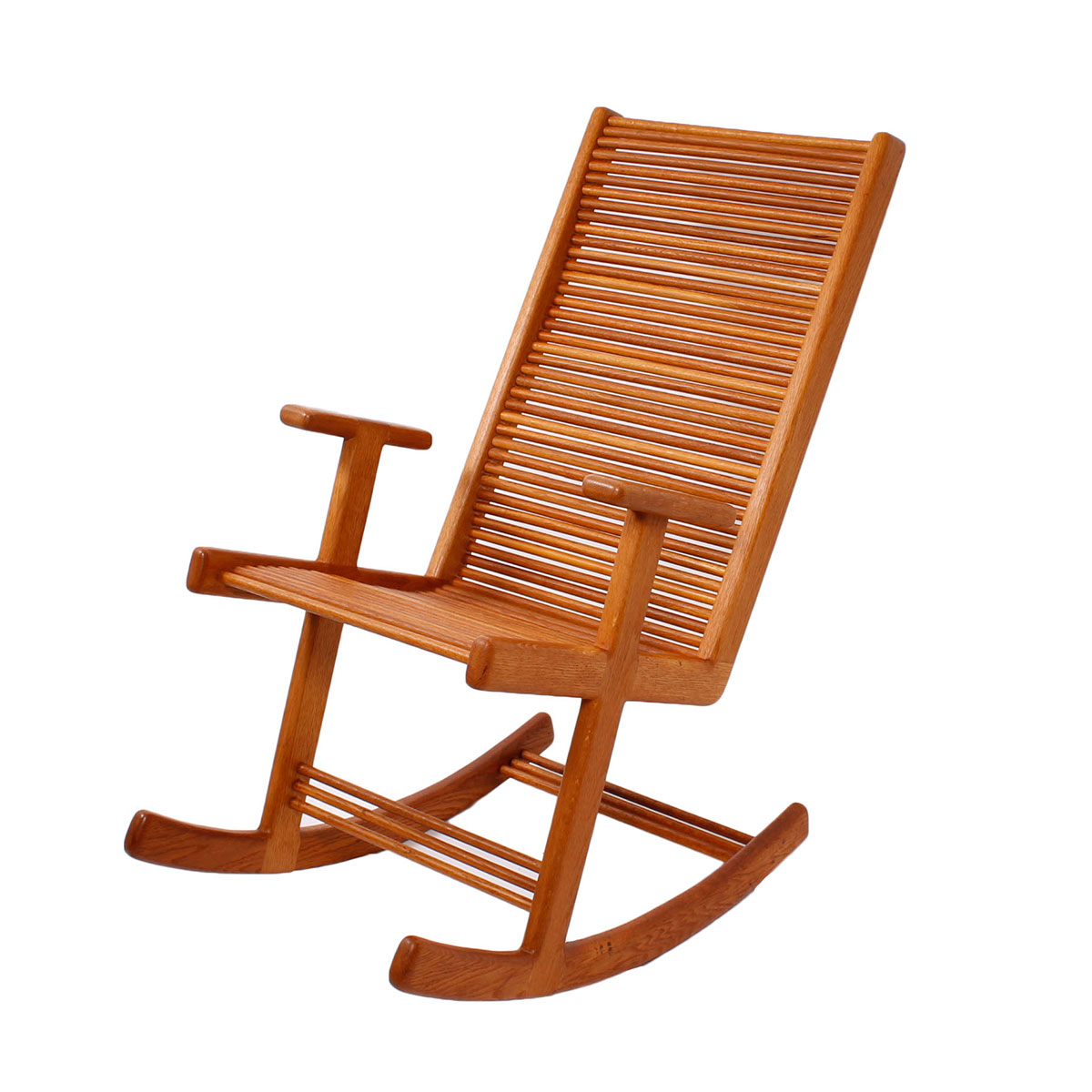 Danish Teak Slatted Back Rocker