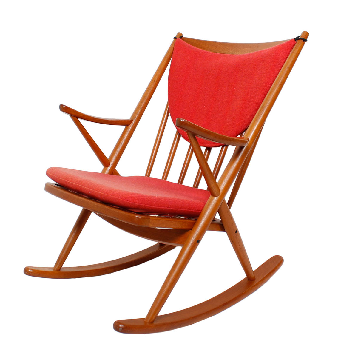 Bramin Danish Teak Designer Rocking Chair w/ Cushions