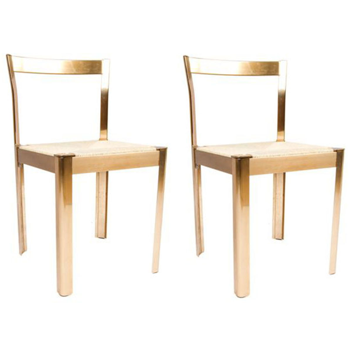 Pair of Italian Modern Decorator Accent Chairs