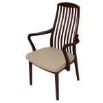 Set of 6 KOEFOEDS HORNSLET Danish Modern Slatback Dining Chairs