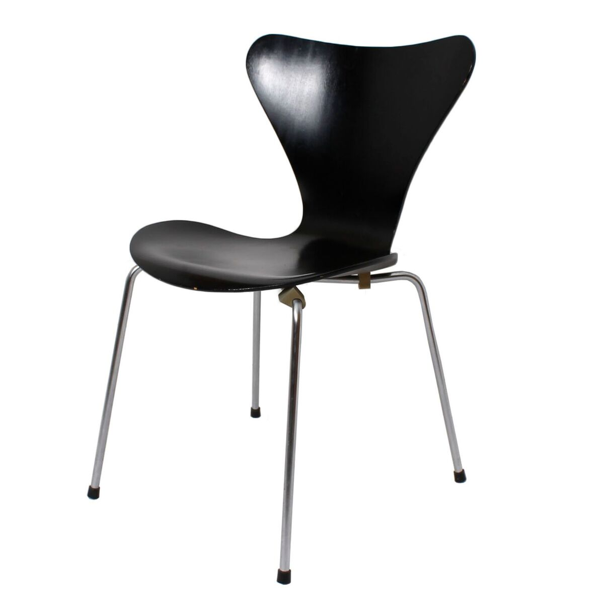 Arne Jacobsen c. 1966 Fritz Hansen Black Series 7 Chair
