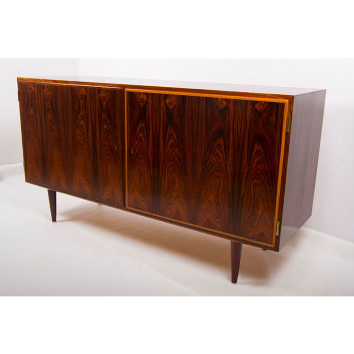 Condo-Sized Rosewood Locking Sideboard / Bar / Media Cabinet