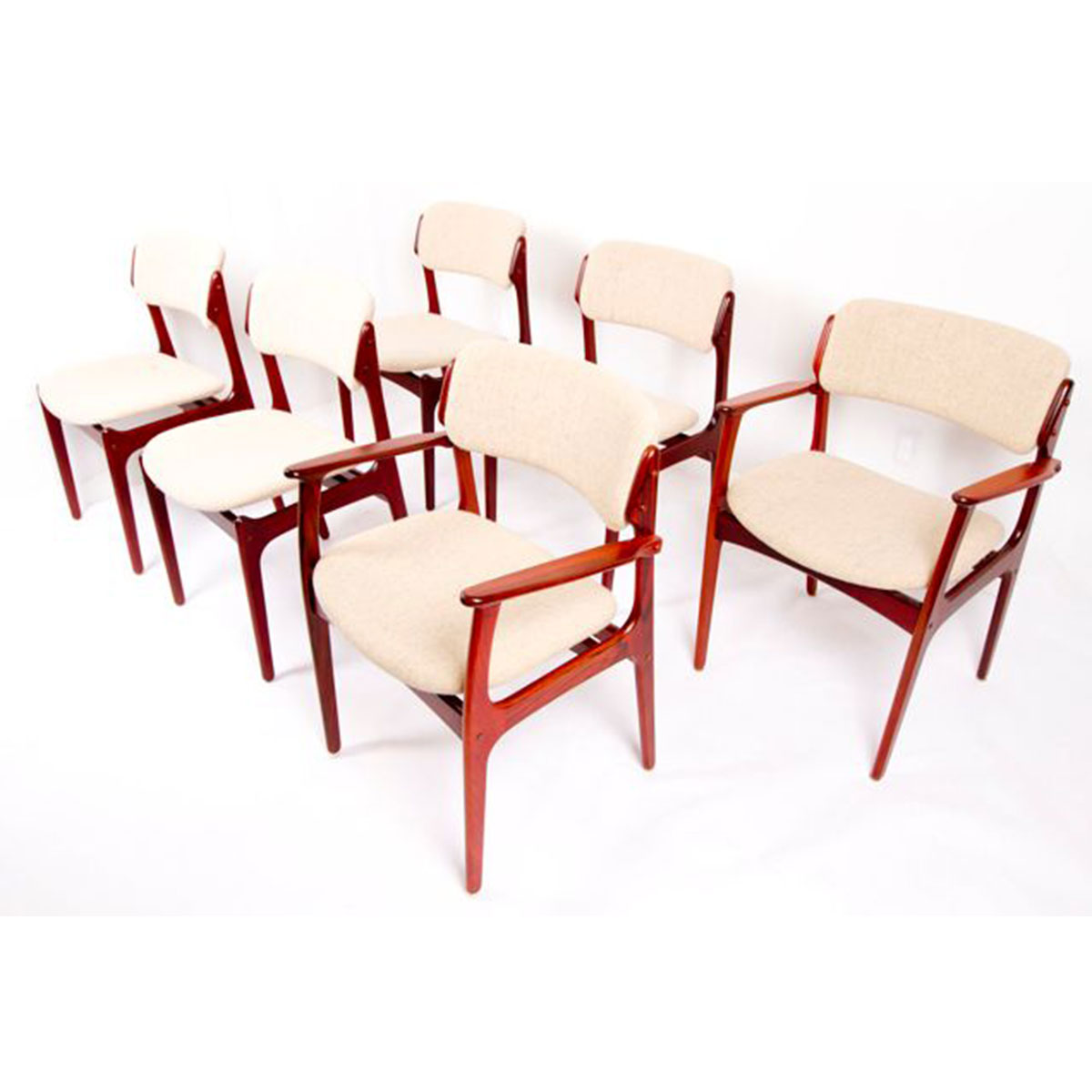Set of 6 Erik Buch Danish Rosewood Dining Chairs
