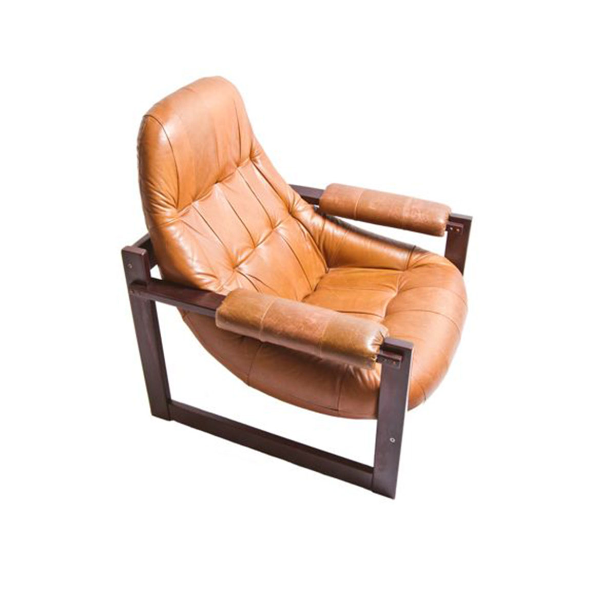 Percival Lafer Brazilian Leather Lounge Chair