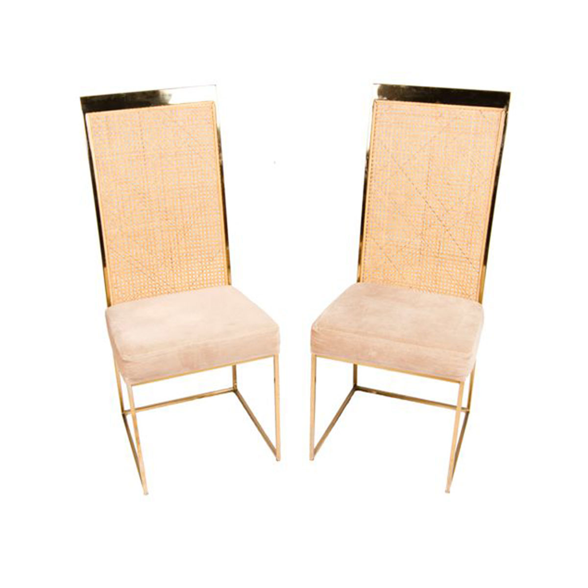 Fab Pair Milo Baughman for Thayer Coggin Accent Chairs
