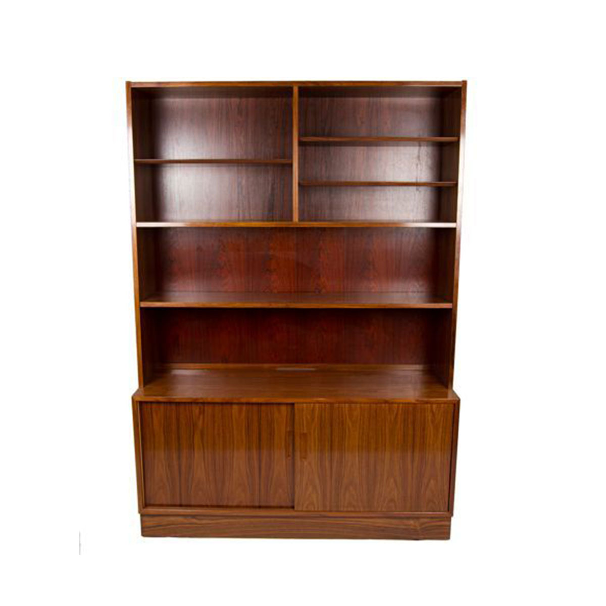 2-Piece Danish Modern Rosewood Display – Media and Storage Cabinet
