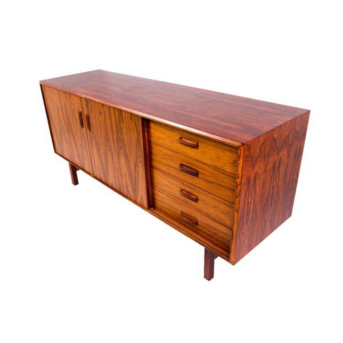 Mid-Sized Modern Rosewood Sideboard / Media Console