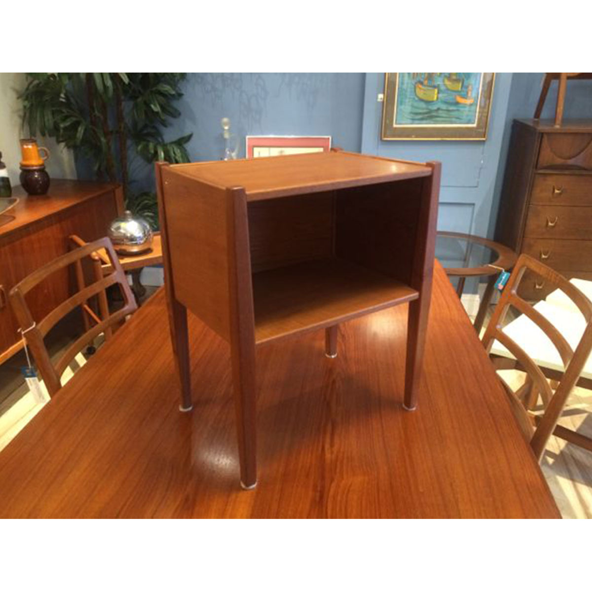 Mini Teak Side Table-Nightstand