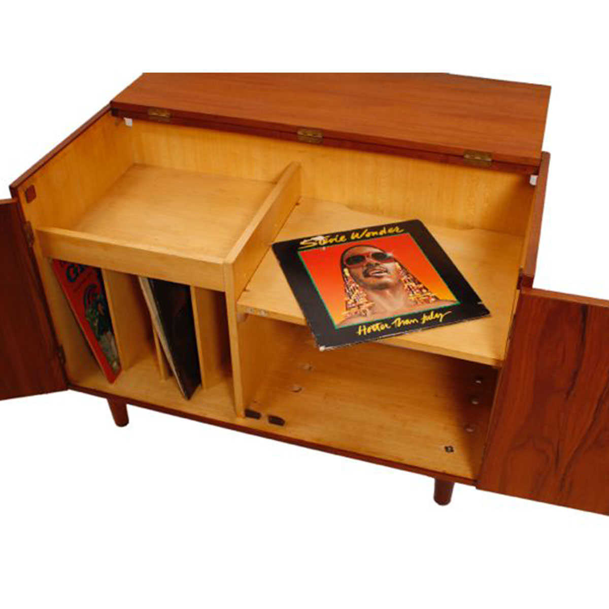 Flip-Up Top Mini Stereo Cabinet