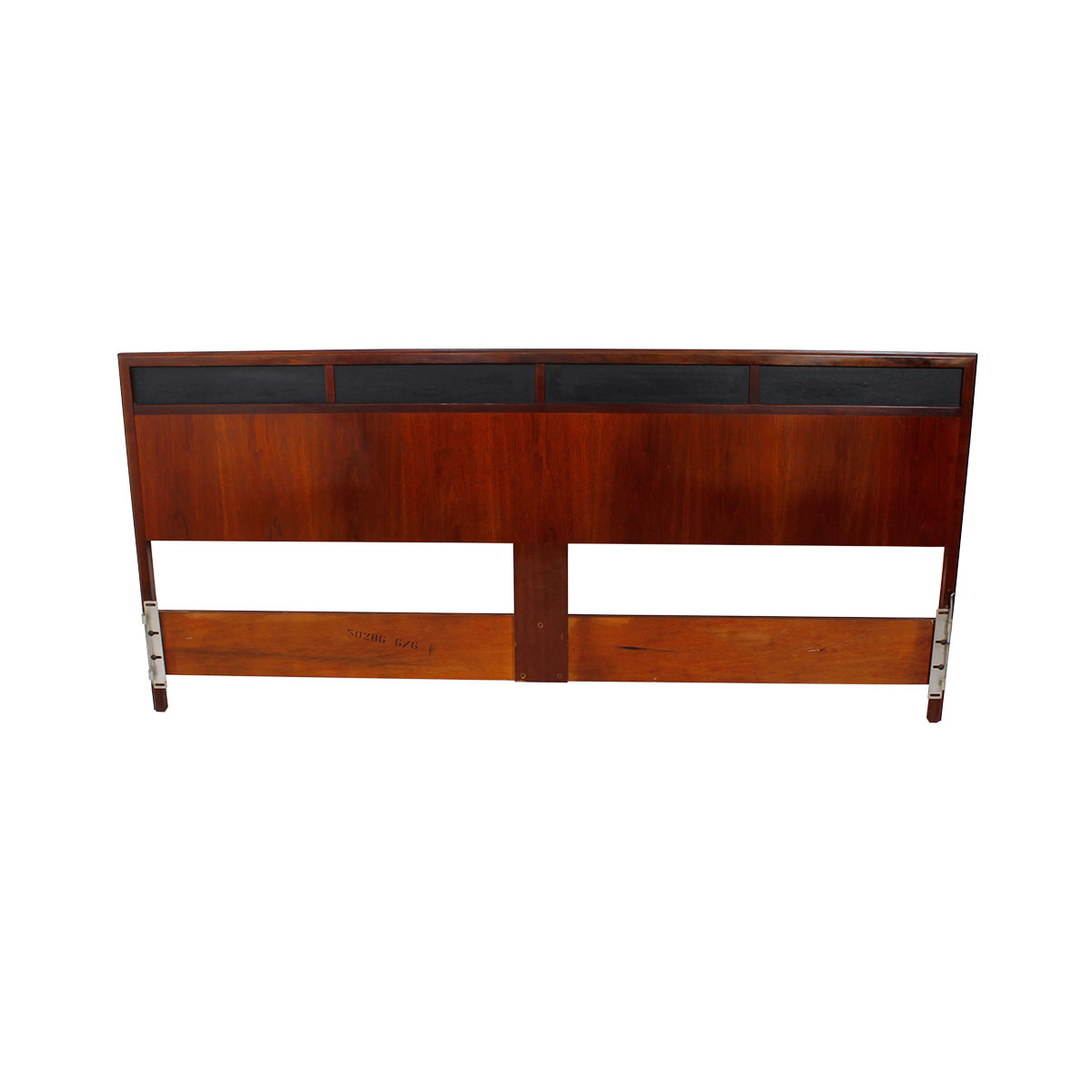 King Mid Century Modern Walnut Headboard