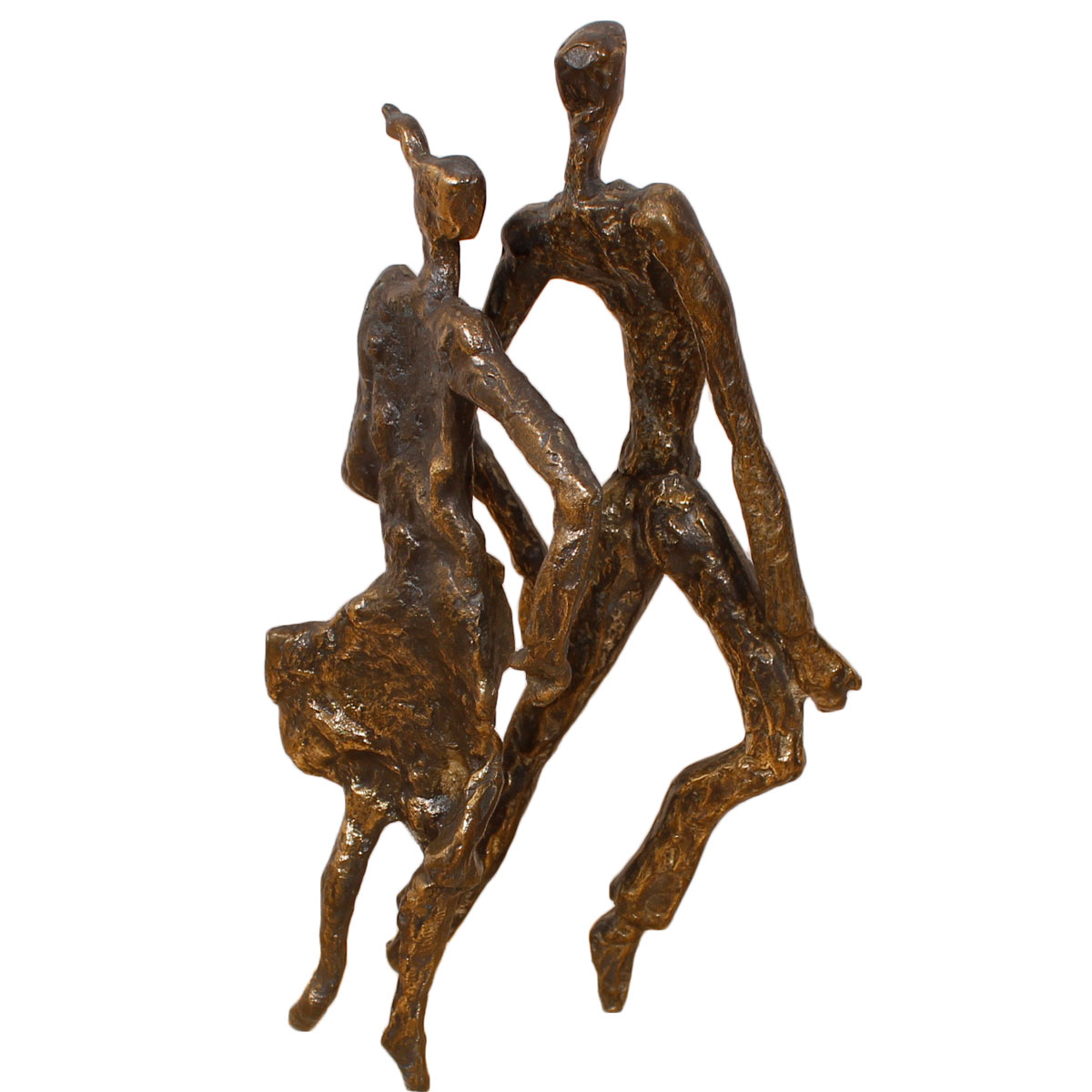 Bronze Dancing Figures – Vintage Signed Sculpture