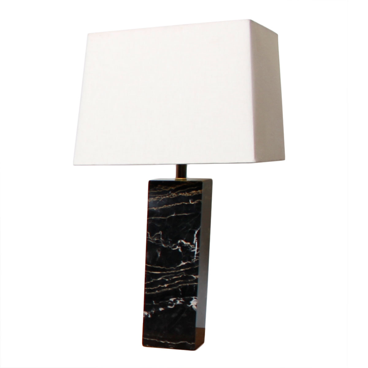 Nessen Studios Marble Table Lamp w/ Square Shade