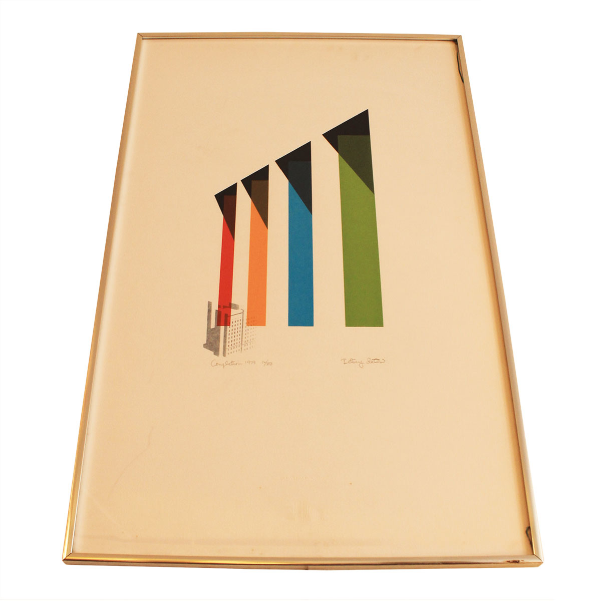 """""""Completion 1979"""" Signed & Numbered Commemorative Serigraph"""