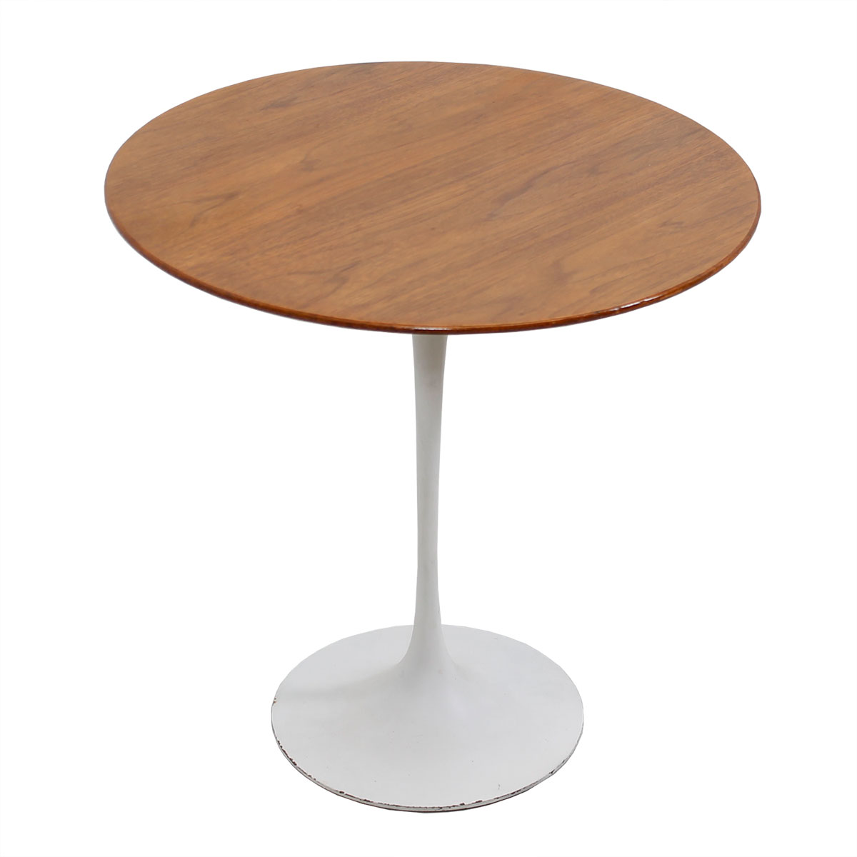 Early Eero Saarinen Walnut Top Accent / End Table by Knoll