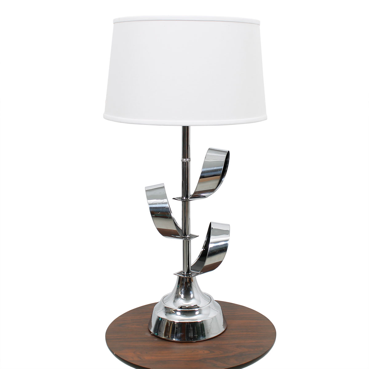 Vintage Mid Century Chrome 'Ribbon' Table Lamp