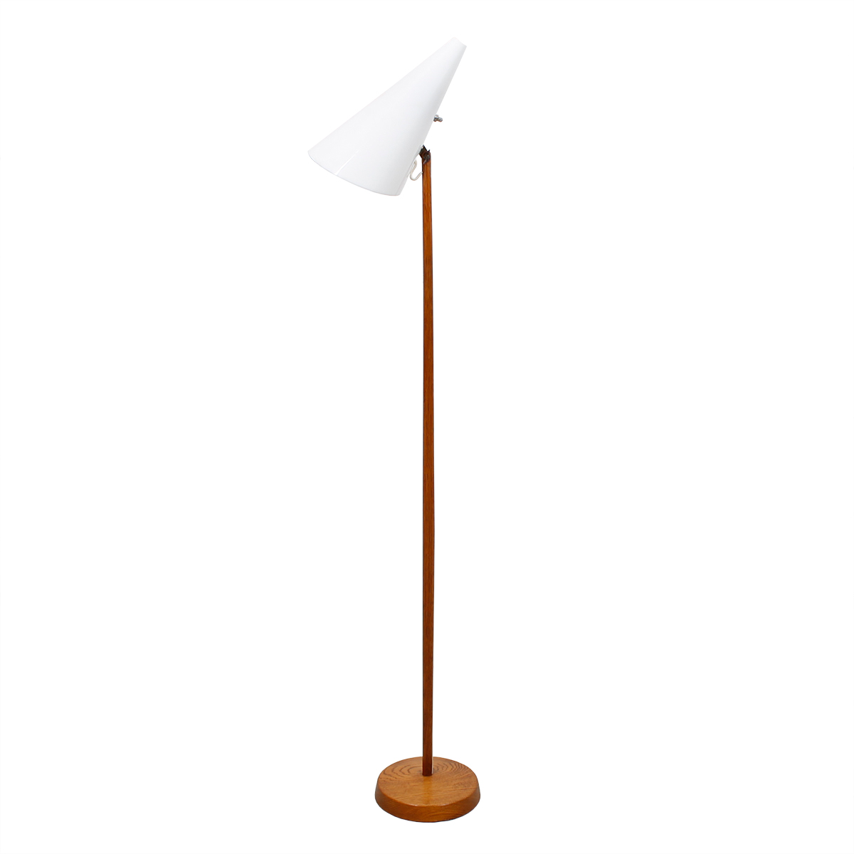 Rare Luxus Swedish Modern Teak Adjustable Floor Lamp