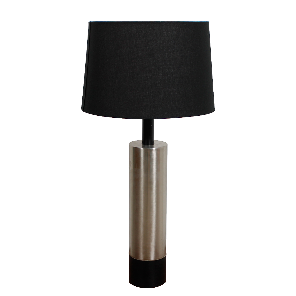 MCM Brushed Chrome Cylinder Table Lamp
