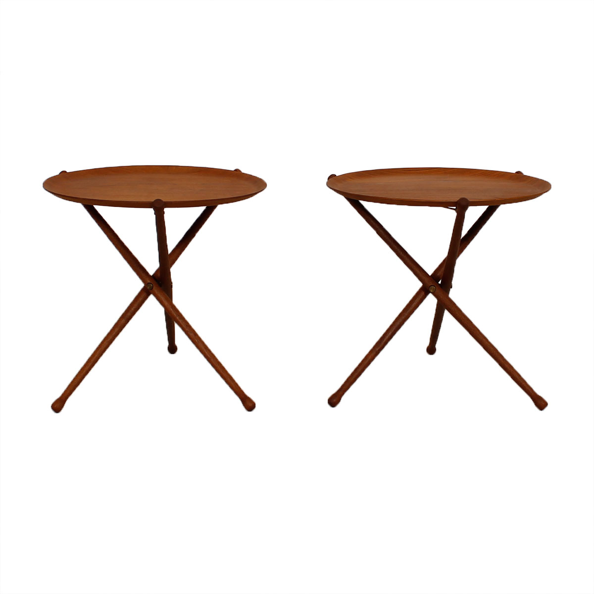 Rare Pair of Collapsible Tray Tables by Nils Trautner for Ary Nybro Sweden