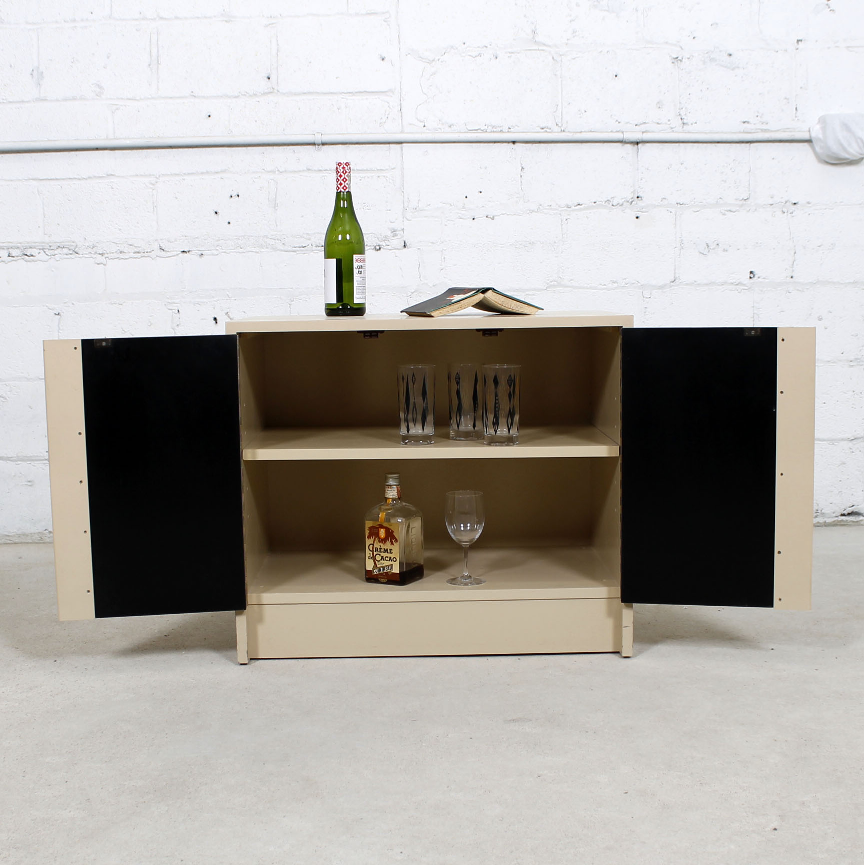 Milo Baughman Bar / Media Cabinet with Rosewood Doors