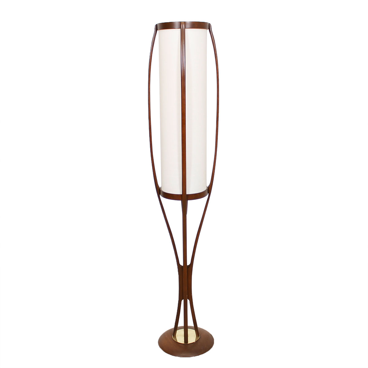 Adrian Pearsall Curvaceous Walnut Floor Lamp