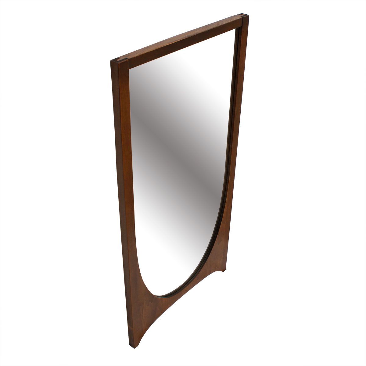 Broyhill Brasilia 'Single Arch' Walnut Mirror